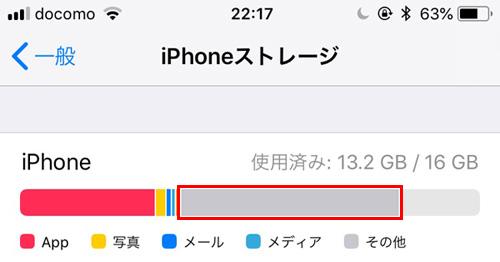システム 減らす ストレージ Iphone