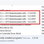いっぱいあるMicrosoft Visual C++はアンインストールしても大丈夫?